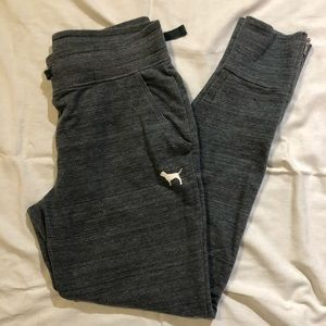 Charcoal grey PINK joggers